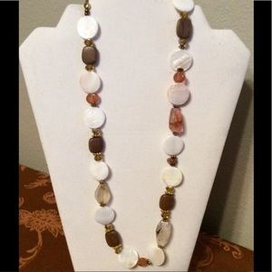 Shell and Wood Handmade Necklace